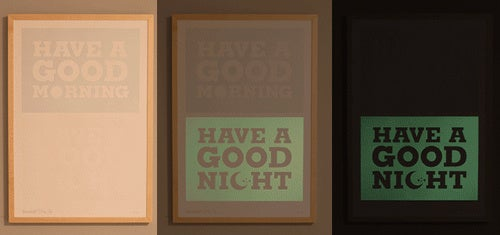 A Phosphorescent Paint Reminder to Get You Out of Bed
