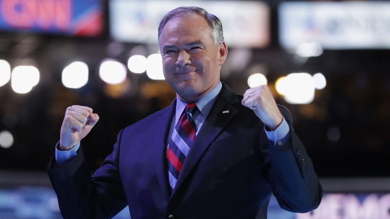 Democratic VP Nominee Tim Kaine Proves to Be the DNC's Increasingly Charming Dad