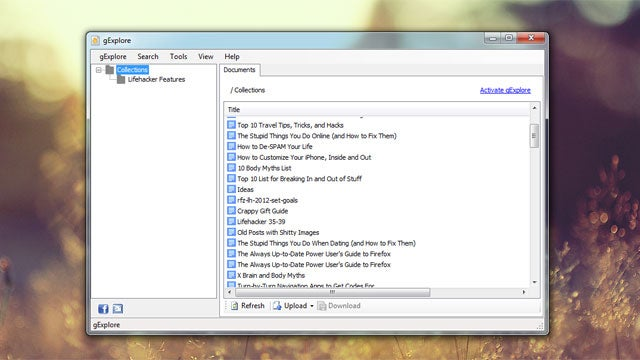 gExplore Manages Your Google Docs from the Desktop