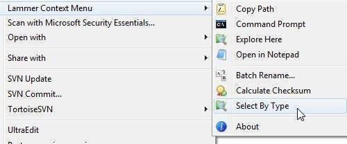 Lammer Context Menu Adds Handy Features to Windows Explorer