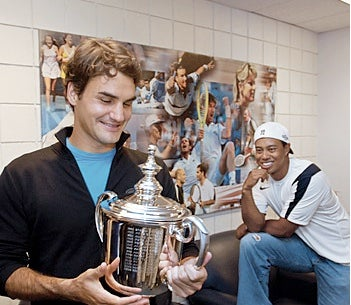 "Roger Federer Spoke To His Elusive Shaving Buddy Tiger Woods: ""He Needs Calm."""