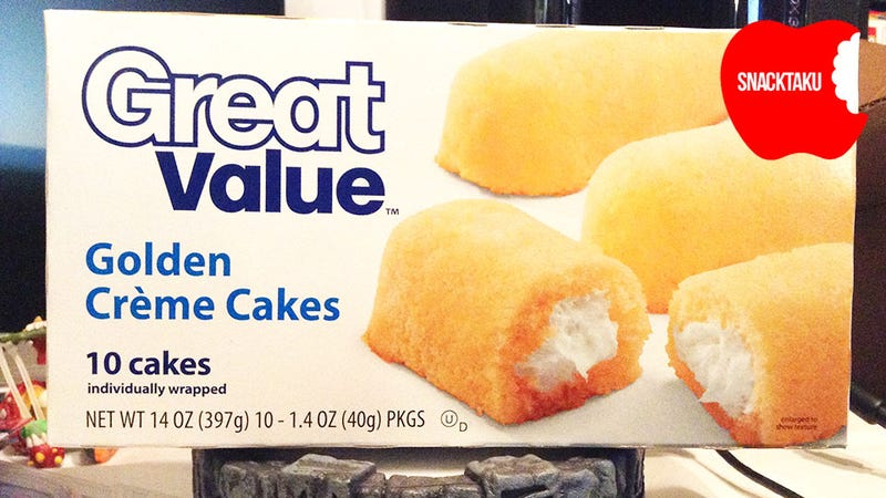 Great Value Golden Crème Cakes: The Snacktaku Review