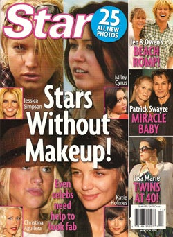 This Week In Tabloids: Stars Are Bare-Faced, Britney Is Bored, Ashlee Simpson Loves Her Nose Job