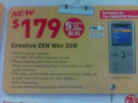 Creative Zen Wav Leaked? Possible iPod Nano Competitor Spotted in Singapore