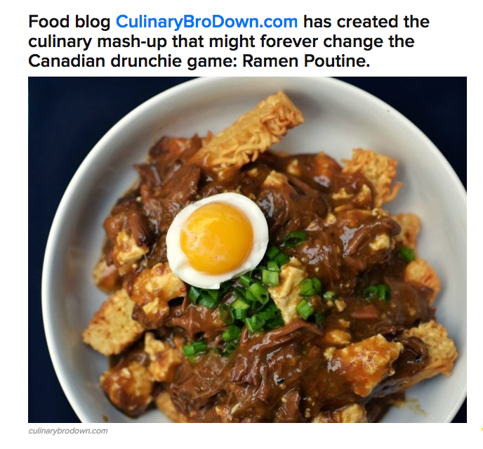 WHAT IN THE GODDAMNED HELL IS THIS RAMEN POUTINE NONSENSE