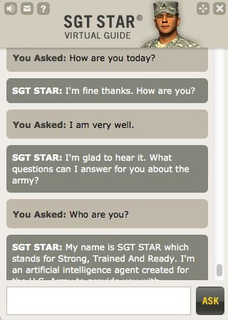 Everything We Know About the Army's Uncanny Chatbots