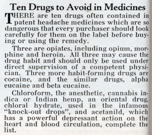 And now, proof that the FDA of 1932 was asleep at the wheel
