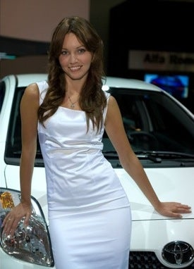 The Booth Professionals Of The 2008 Moscow Auto Show