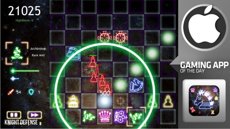 Knight Defense is Chess with a Pac-Man Championship Edition Overhaul
