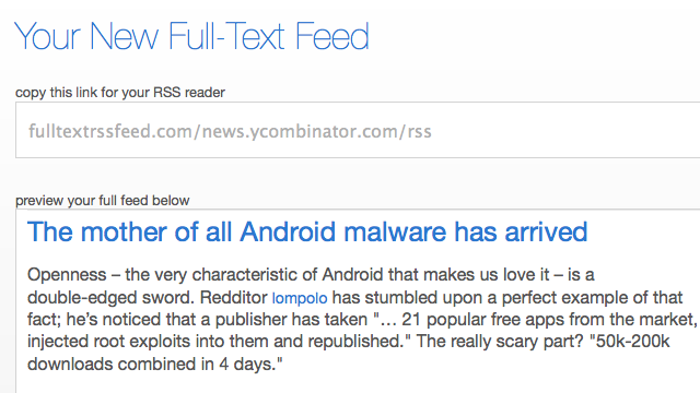 Full Text RSS Feed Builder Rids You of Truncated RSS Feeds Forever