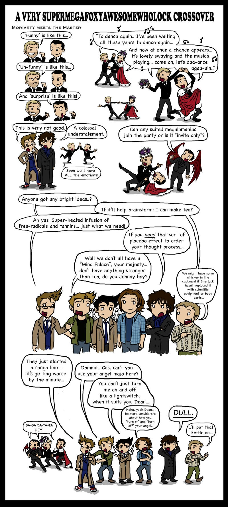 These fan-made Doctor Who/Sherlock crossovers will make you laugh, sigh, and 'ship Wholock