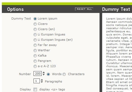 BlindTextGenerator Cranks Out Custom Text Samples