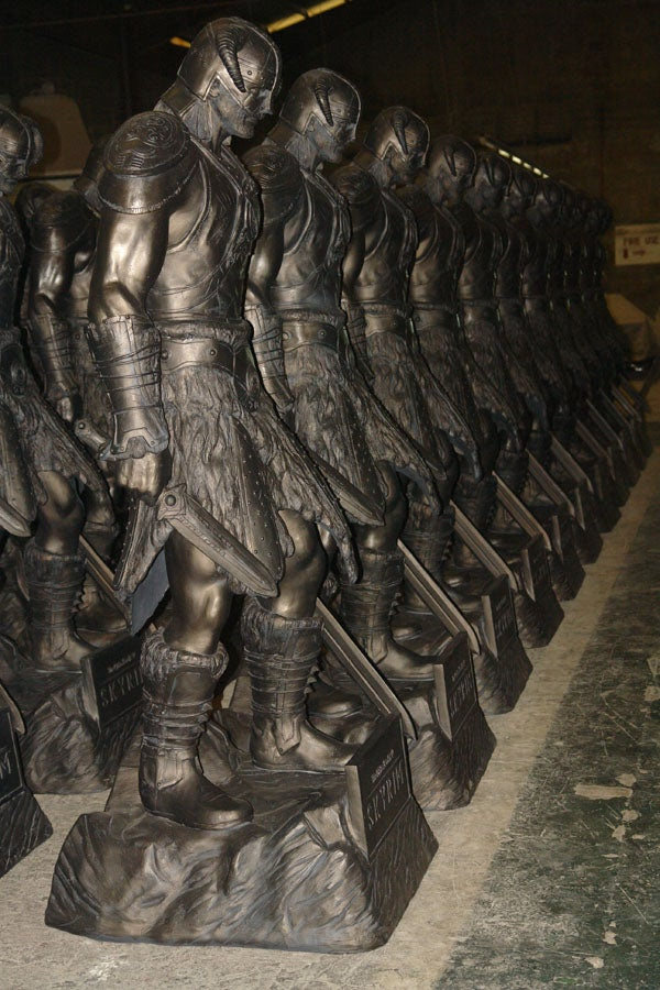 An Army of Dragonborn Prepares to March on Skyrim Retailers
