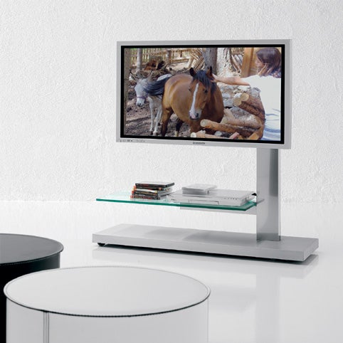 Asymmetric Flat-Panel TV Stands May Have You Rethinking a Wall Mount