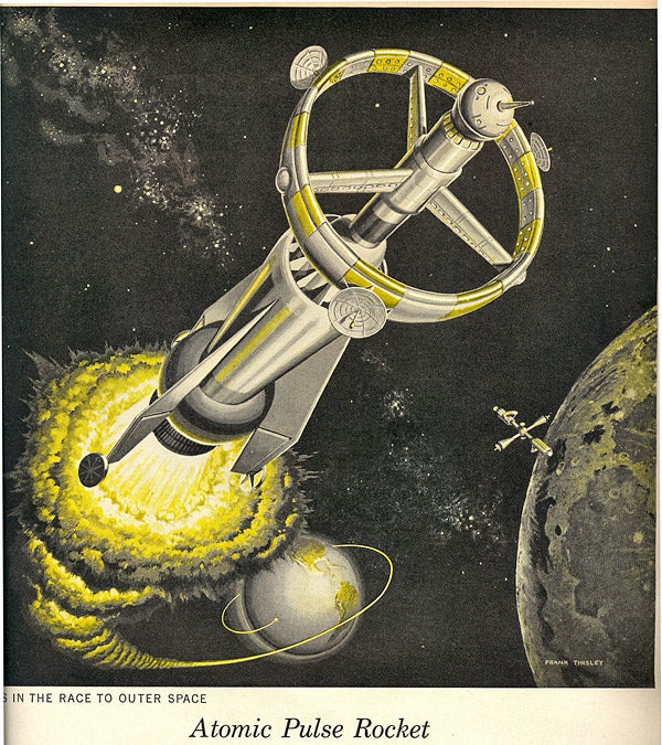 A-Blasts Propel the Atomic Pulse Rocket Into Space (1960)