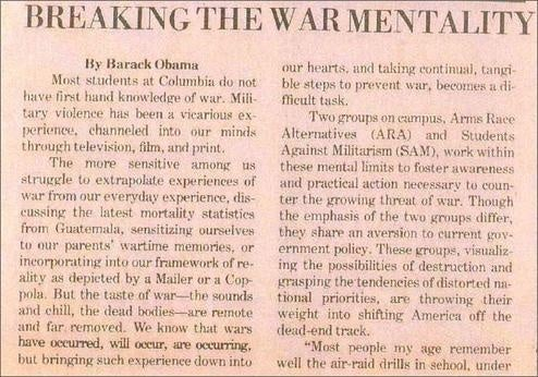 Barack Obama's Comical College Journalism Unearthed!