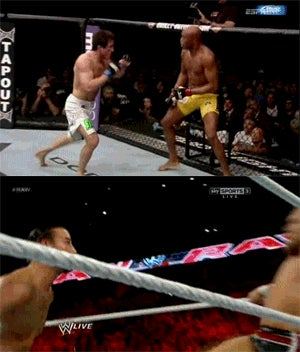 WWE Reenacted Chael Sonnen's Failed Spinning Backfist