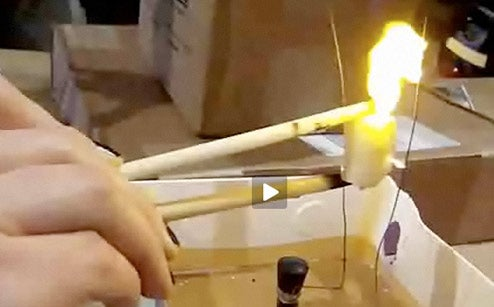 By Far the Geekiest Way to Roast a Marshmallow
