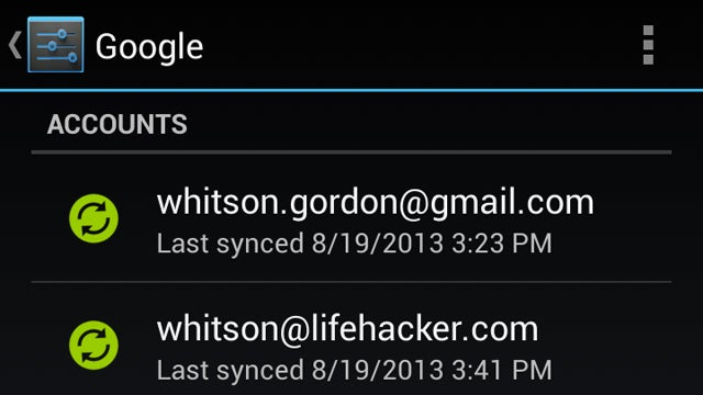 Use Separate Gmail Accounts for Different Android Services