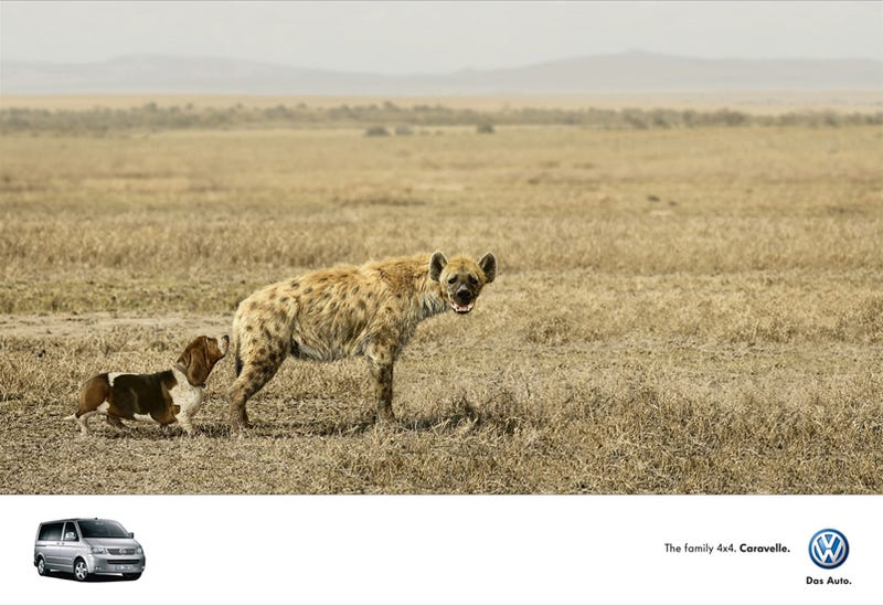 Funny VW Ad Mixes Hyenas With Basset Hounds