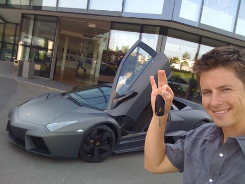 Top Gear USA Host Tanner Foust Touring Europe In Lamborghini Reventón