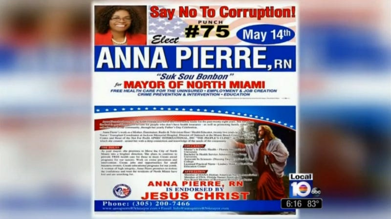 Florida Mayoral Candidate Boasts Endorsement from Jesus Christ