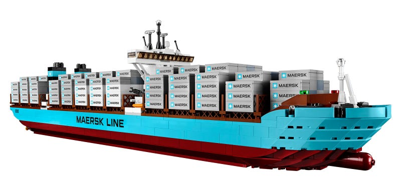 The world's largest cargo ship is now available as a giant Lego set