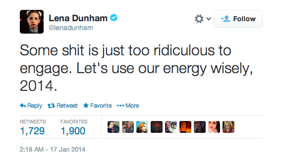 Lena Dunham Responds To Jezebel's Kind Offer