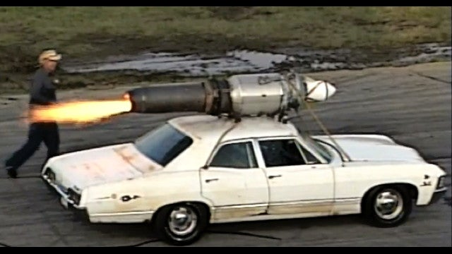 Jet-dragster guy recreates rocket-car urban legend