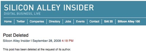 Jason Calacanis missive unpublished by Silicon Alley Insider