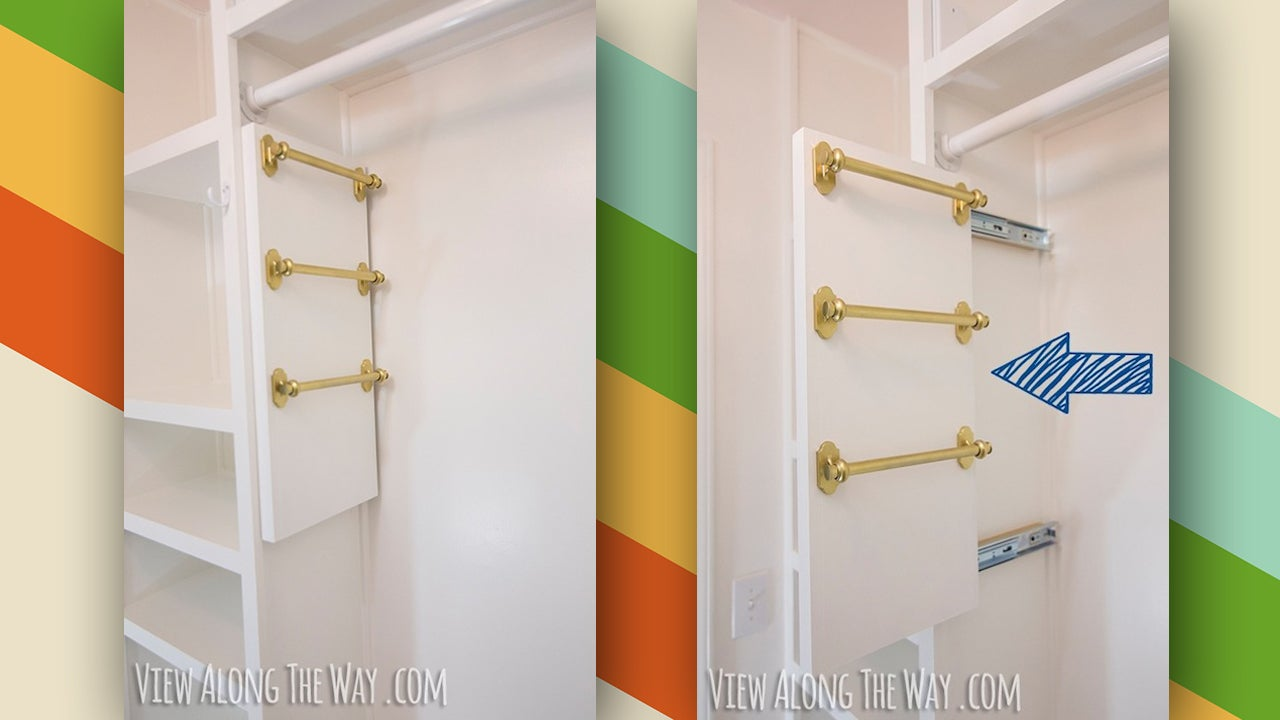 These diy belt and scarf organizers save space in small closets - Diy closets for small spaces model ...