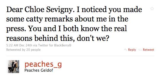 The Great Peaches Geldof/Chloe Sevigny Feud Of 2010