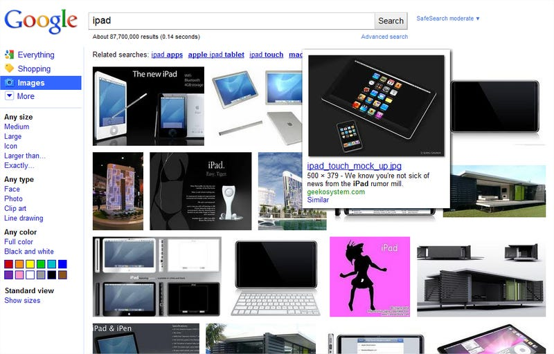 Google Image Search Gets Textless, Infinitely Scrolling Redesign