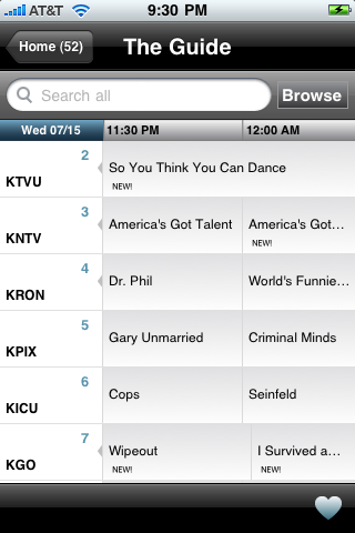 Comcast's iPhone App Does More Than TV Listings