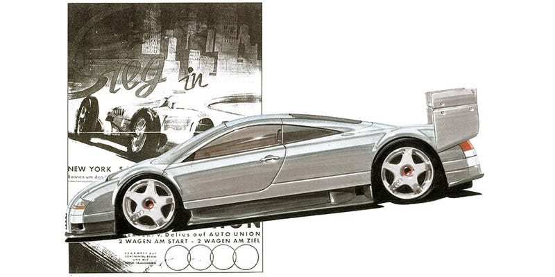 These Sketches Show The Amazing Audi GT1 Race Car That Never Was
