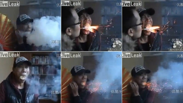 Seeing a Smoke and Fire Breathing Human Is So Wrong