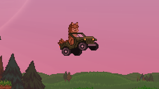This shot of an alien alpaca in a car has little do with Starbound's big upcoming Winter update, but it's still amusing. Speaking of the update, it's scheduled to come out in January, packed with content like tons of new items, a new playable race, ship upgrades, and more biomes. There's a trailer for it below.
