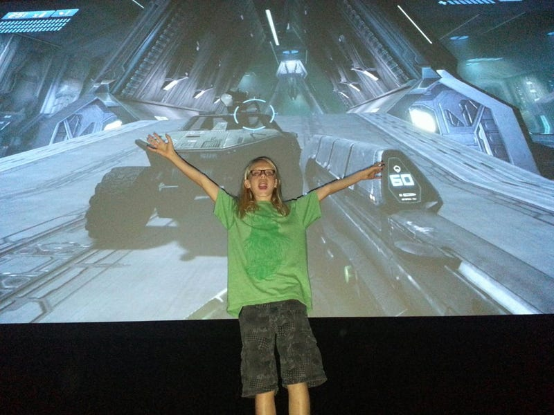 Dad Rents Out Entire Movie Theater So Son Can Play Games on Big Screen