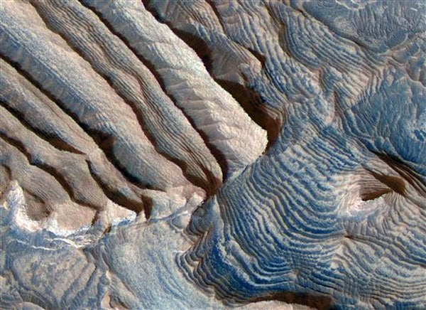 Stairway into a Martian Crater