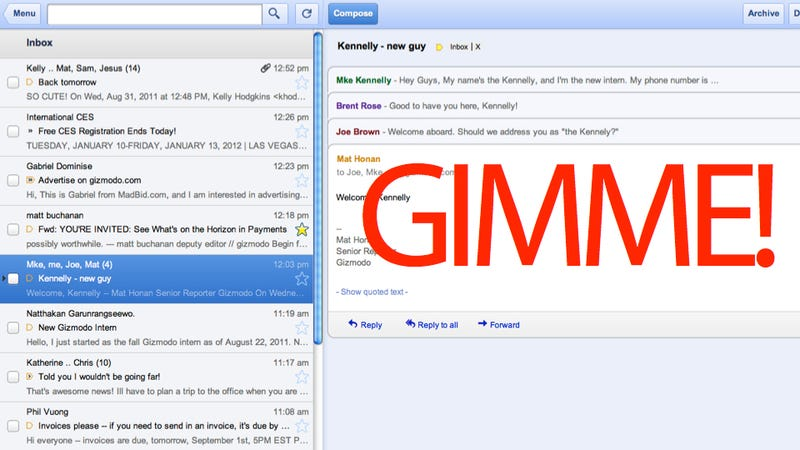 Offline Gmail, Google Calendar and Docs? Um, Yes Please!