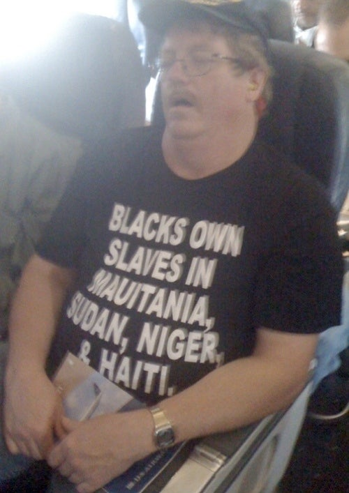 Weird Racist T-Shirt Guy Spotted Fleeing Nation's Capital