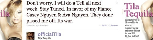 Tila Tequila Declares 'War' on Roving Pack of Vigilante Heiresses
