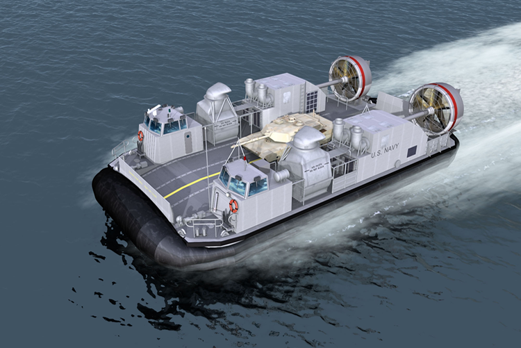 Watch These Giant Navy LCAC Hovercraft Conduct Night Ops
