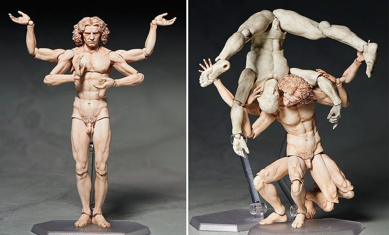 Da Vinci's Vitruvian Man Proves Action Figures Can Be Art