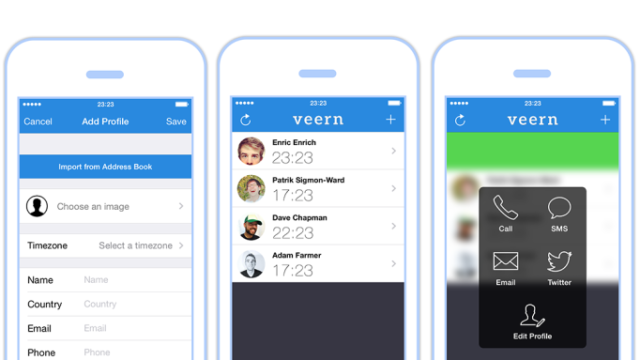 Veern Makes a Time Zone-Based Contact List for Quick Communication