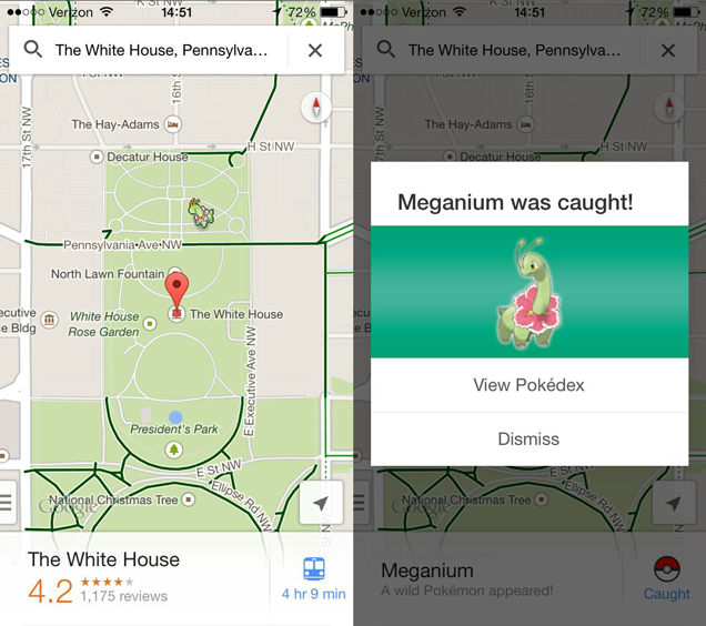 how to find pokemon on google maps