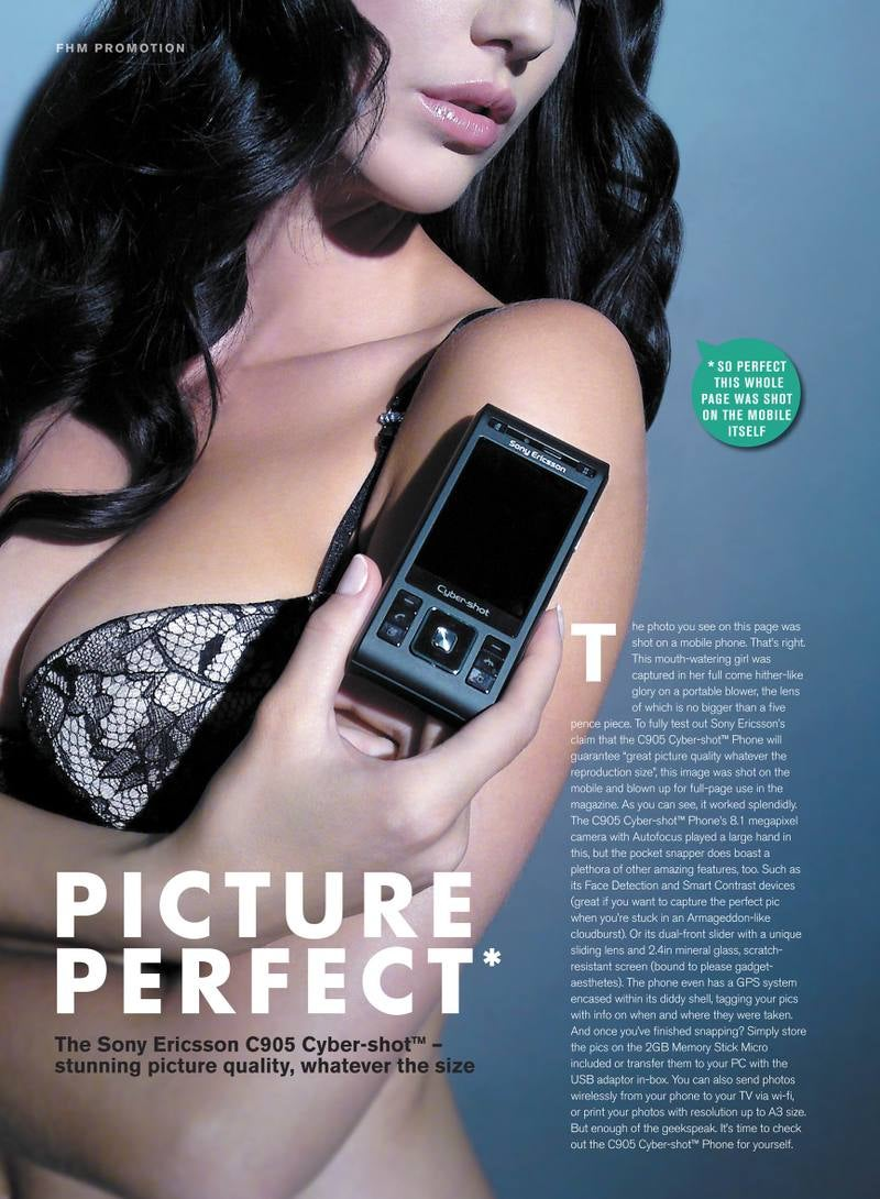 Sony Ericsson Shooting Ad Campaign Entirely on C905 Cyber-shot Cell Phone