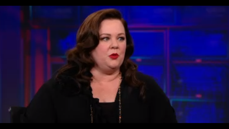 Melissa McCarthy Tells Jon Stewart About Her First Time on Stage
