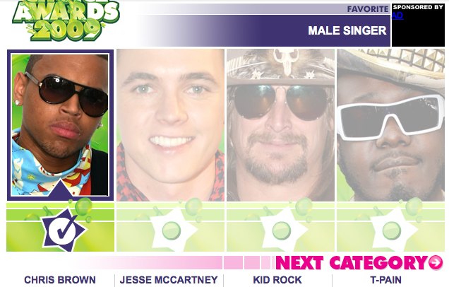 Will Chris Brown Win the Kids' Choice Award??
