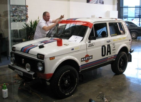 Lada Niva Transformed With Martini Livery